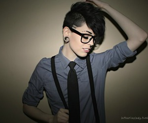 androgynous, dyke, and sexy image