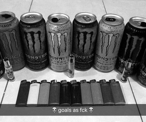 energy, goals, and monster image