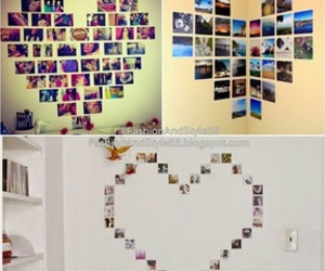 decoration, heart, and wall image