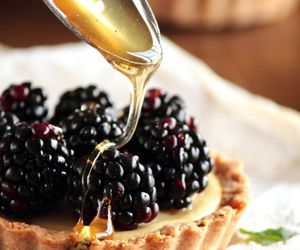 food, blackberry, and honey image