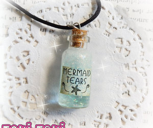 etsy, bottle necklace, and the little mermaid image