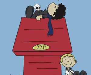 sherlock, snoopy, and holmes image