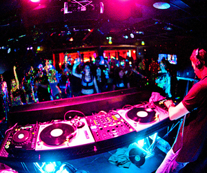 party, dj, and music image
