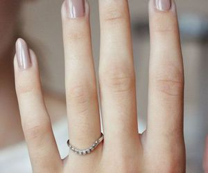 nails, Nude, and ring image