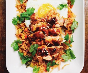 cooking, fried egg, and thai food image