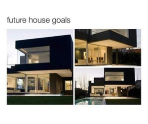 house, goals, and black image