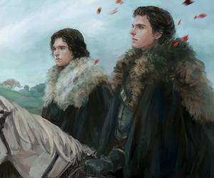 game of thrones, art, and jon snow image