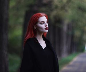 alternative, dyed hair, and red hair image