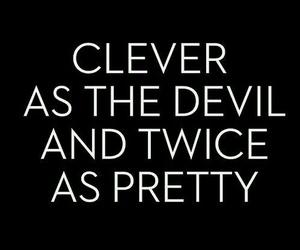 clever, Devil, and pretty image