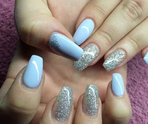 gel, glitter, and lila image