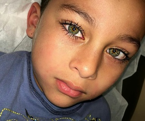 beautiful, children, and green eyes image
