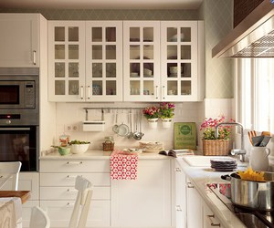 kitchen, interior, and white image