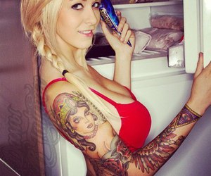 babe, sexy, and tattoo image
