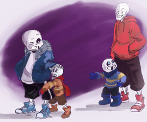 brothers, underswap, and undertale image