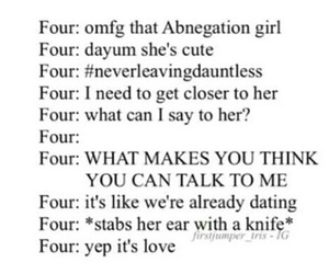 divergent, four, and tobias eaton image