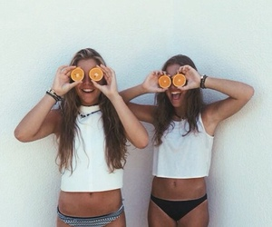 girl, orange, and summer image
