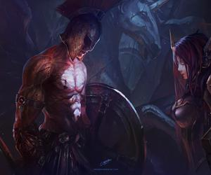 leona, pantheon, and league of legends image