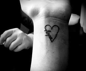 black, heart, and hope image