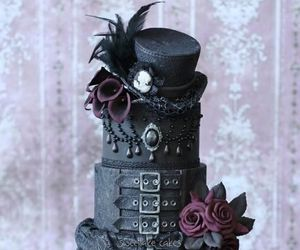 cake, gothic, and black image