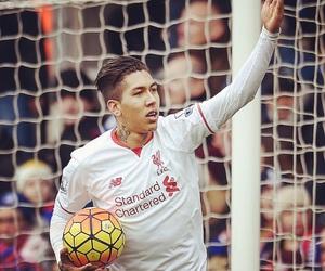 football, goal, and Liverpool image