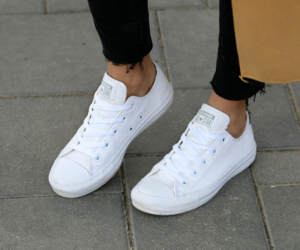 chuck taylor, white, and comfy image