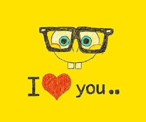 love, spongebob, and yellow image