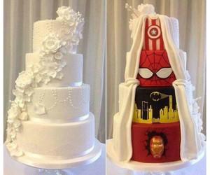 cake, wedding, and batman image