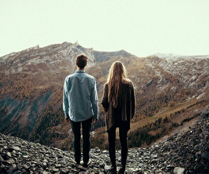 couple, mountains, and boy image