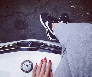 nike, mercedes, and nails image