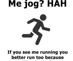funny, run, and jog image