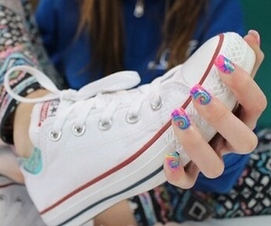 converse, nails, and quality image
