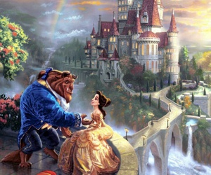 beauty and the beast, disney, and wallpaper image