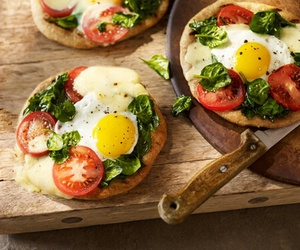 food, healthy, and pizza image