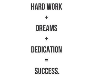 success, Dream, and dedication image