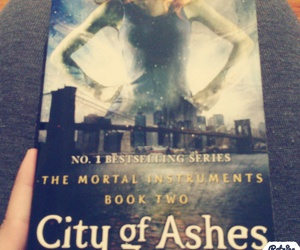 jace, cassandra clare, and reading image