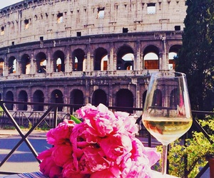 rome, flowers, and italy image