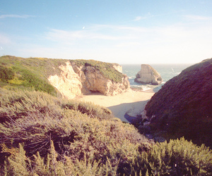35mm, beach, and cliffs image