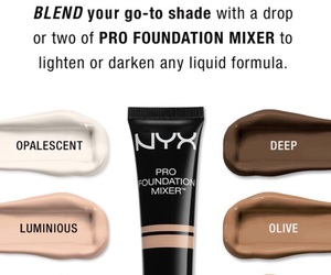 beauty, makeup, and NYX image
