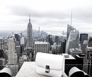city, white, and aesthetic image
