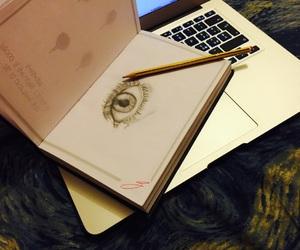 apple, art, and eyes image