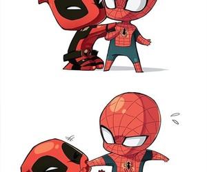 spiderman, deadpool, and Marvel image