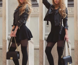 black, jacket, and boots image