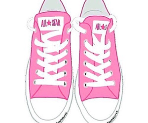 converse, pink, and overlays image