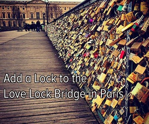 paris, love, and lock image