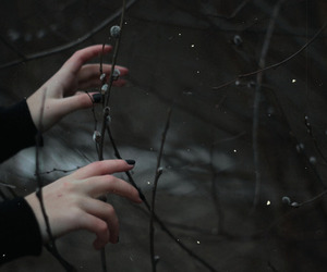grunge, hands, and black image