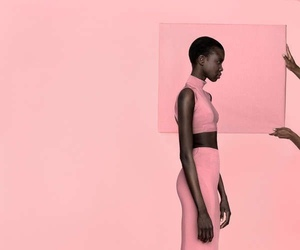 model and pink image