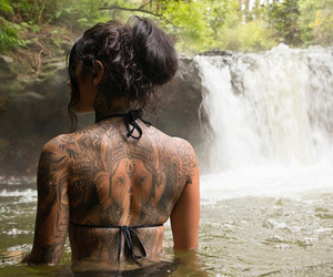 tattoo and waterfall image