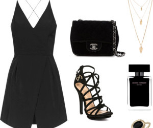 chanel, heels, and romper image