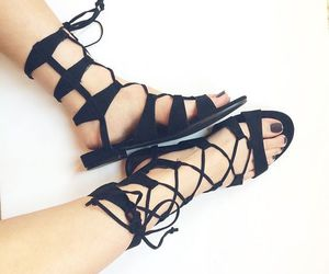 shoes, sandals, and gladiator image