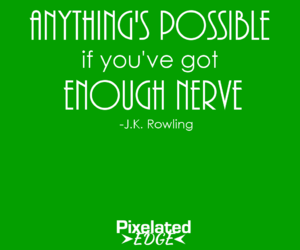 graphic design, quote, and jk rowling image